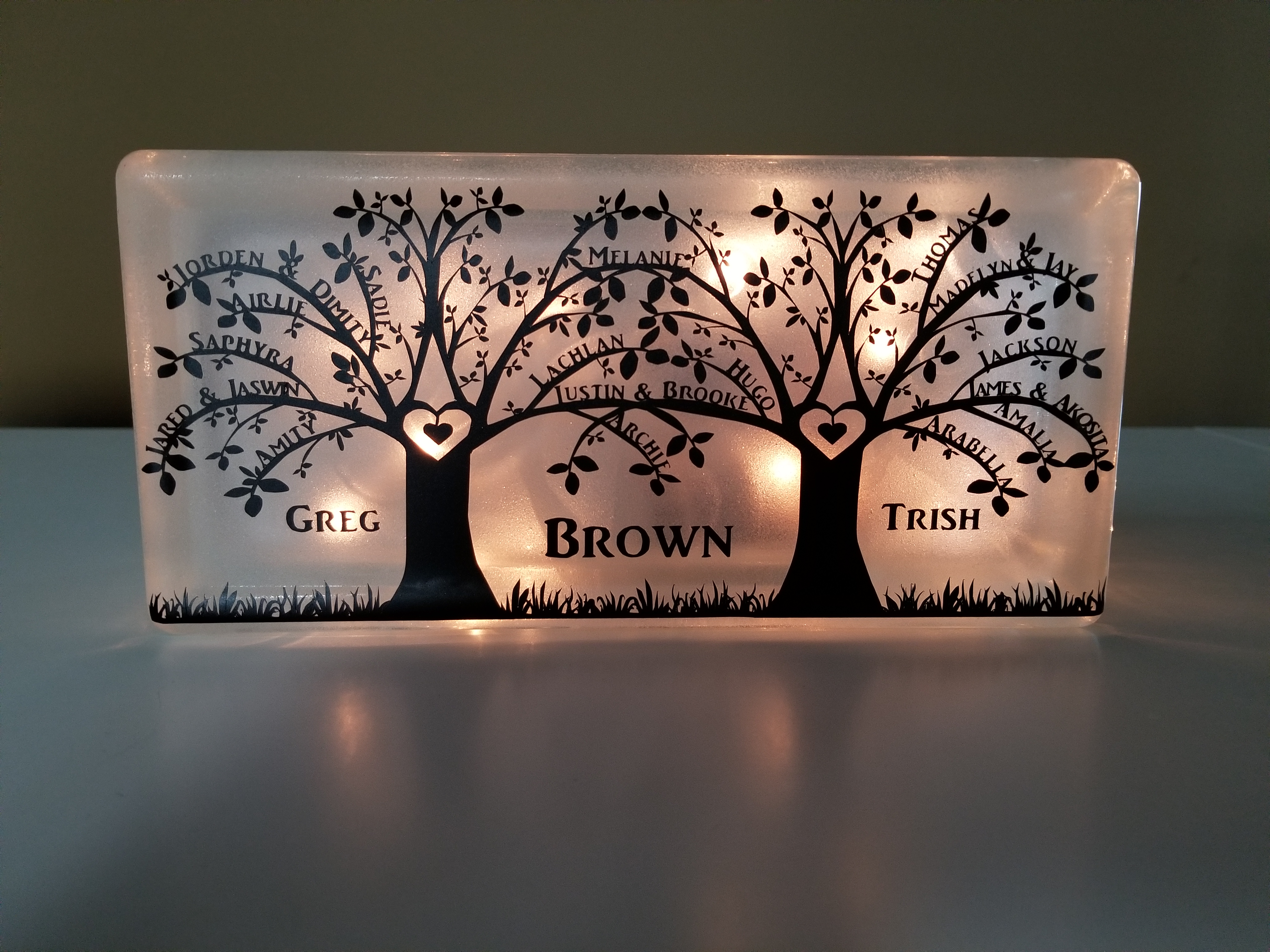 Family Tree. With this SVG file you can personalize the tree branches to show the names of everyone in the family. How fun is that? You can put this design on just about anything. It will be a one of kind.