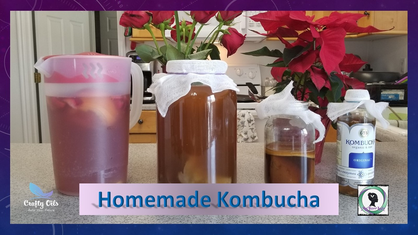 For Complete step by step instructions can be found at https://www.craftyoils.com/diy-homemade-kombucha/