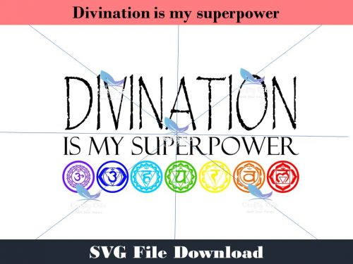 Divination is my superpower is a beautiful design, perfect for our talented witchcraft friends. In your download there is SVG, JPEG, PDF, and Studio3 files, use them in any way you wish. Add it to T-shirts, coffee mugs, canvas, wood signs, Create your own decor.