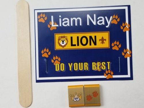 Cub Scout Lion Belt Loop award printable holder